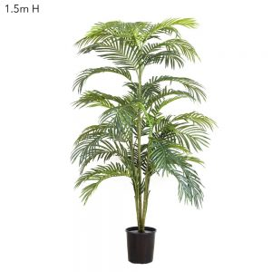 Artificial Areca Palm 1.5mt x 5 stems dark green