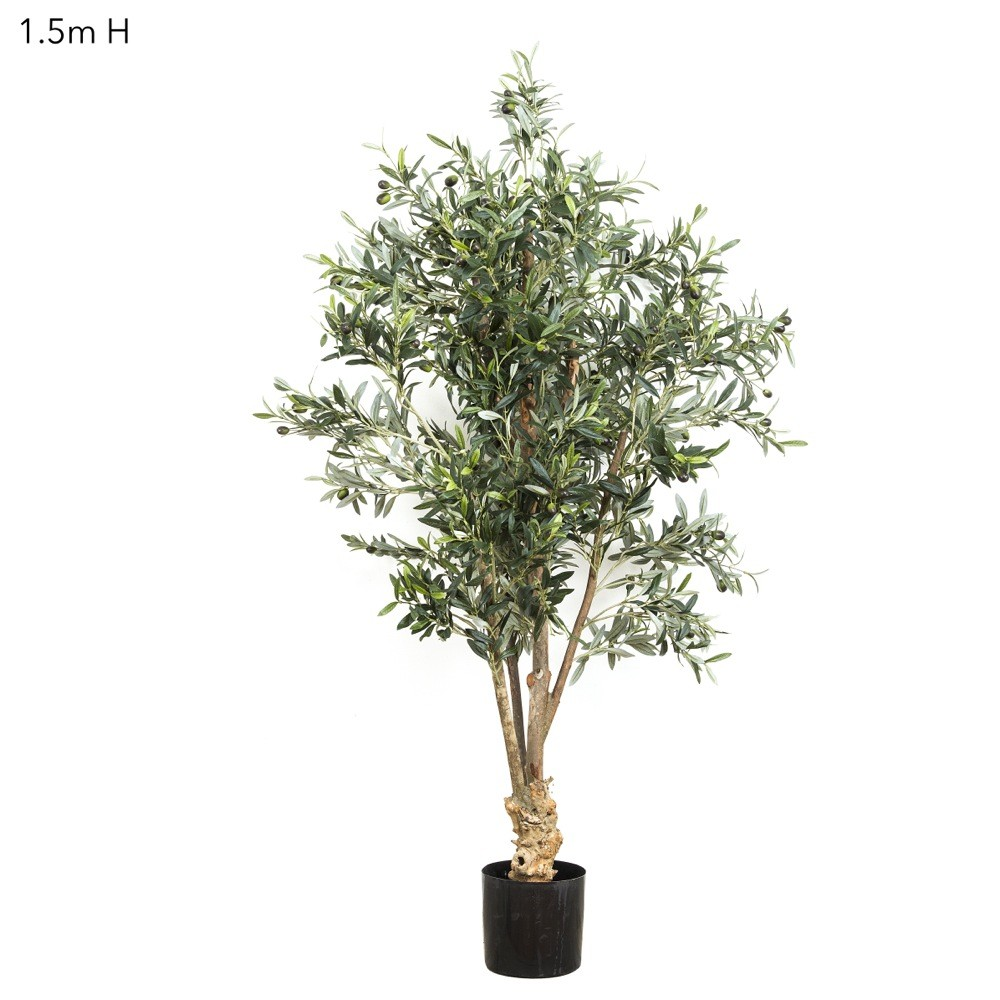Brand-new Artificial Olive Tree 1.5mt with realistic fruit made on natural  KF17