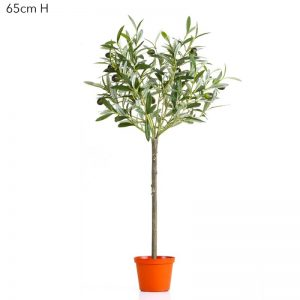 Artificial Olive Tree 65cm with fruit on natural stem