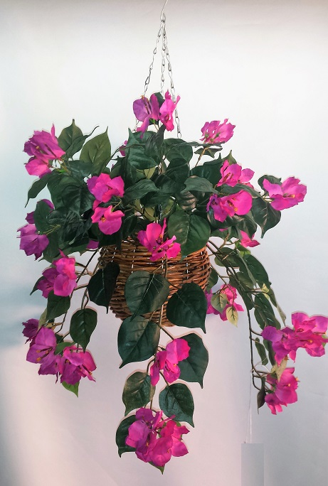 Artificial Bougainvillea Vine Bush purple single