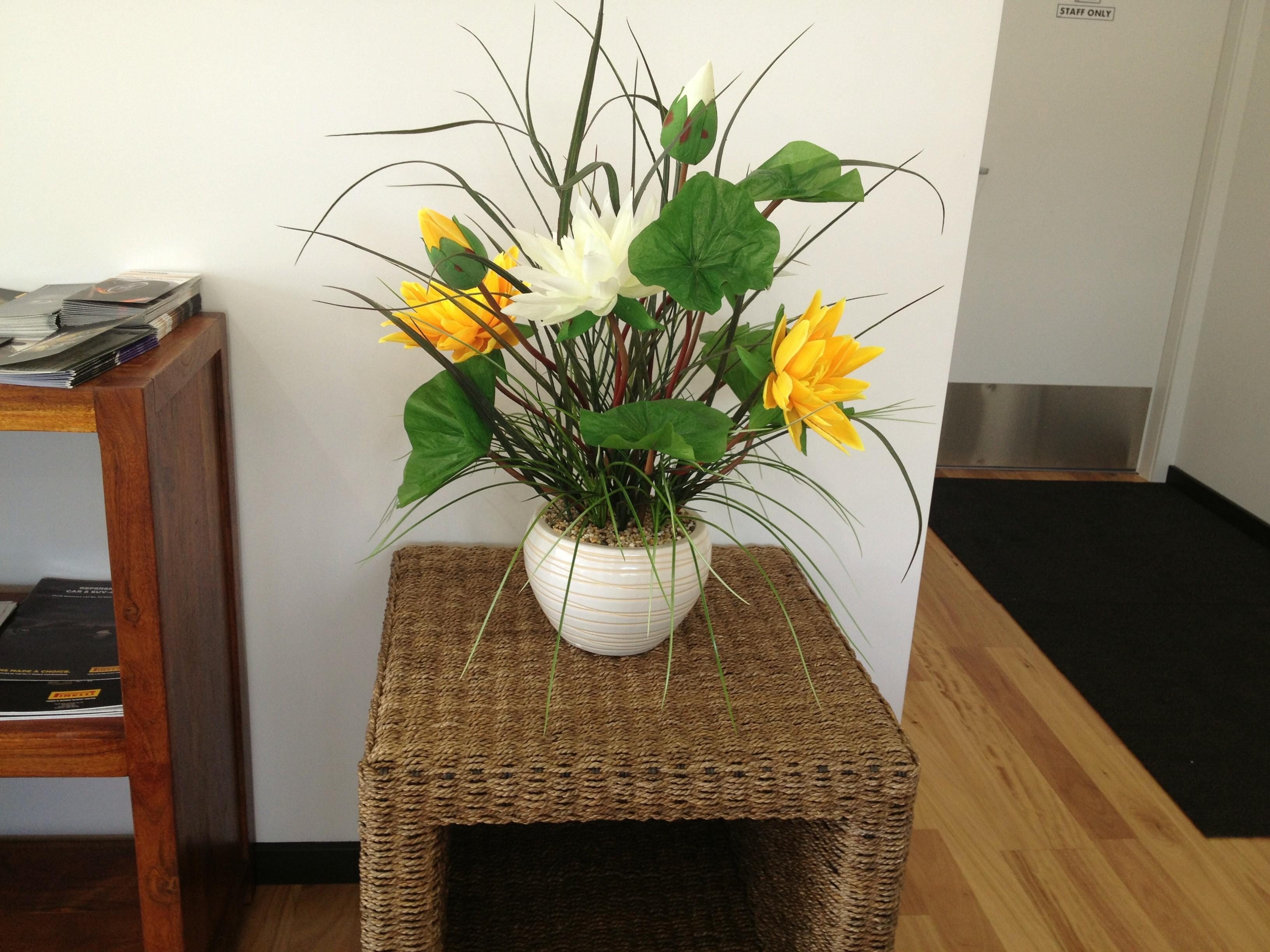 Artificial flower arrangement lotus flower arrangement silk artificial flower arrangement lotus flower arrangement izmirmasajfo