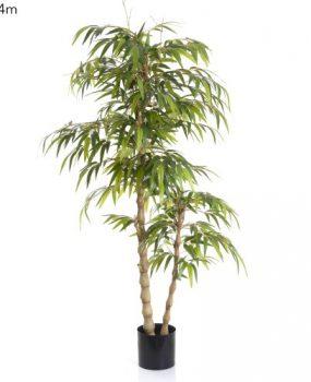 Artificial Bamboo Buddha Tree 1.4mt on natural twisted Buddha Bamboo poles