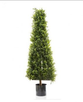 Artificial Boxwood Pyramid Tree 1.15mt with realistic foliage