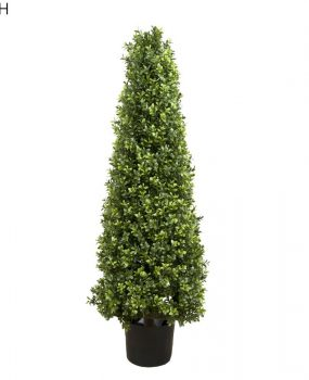 Artificial Boxwood Pyramid Tree 1mt with natural looking Boxwood leaves