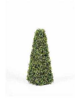 Artificial Boxwood Pyramid Tree 60cm with realistic foliage