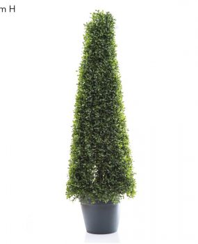 Artificial Boxwood Pyramid Tree 90cm with realistic two tone foliage