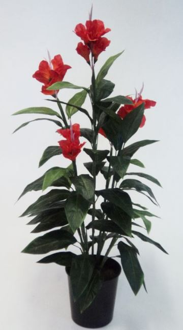 Artificial Canna Lily 1.2mt red