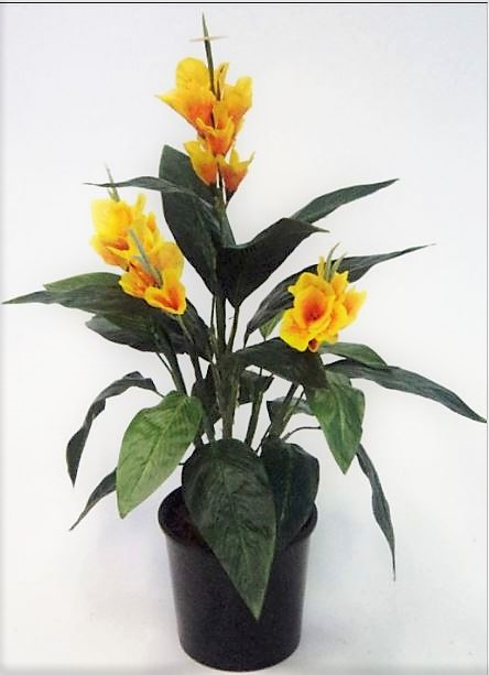 Artificial Canna Lily 60cm Yellow