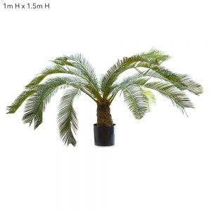 Artificial Cycus Palm 1mt – Silk Trees and Plants