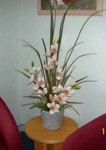 Artificial Cymbidium Orchids pale-pink