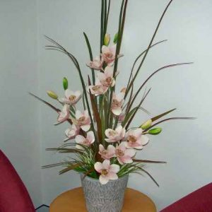 Artificial Cymbidium Orchids Pale Pink with realistic flowers