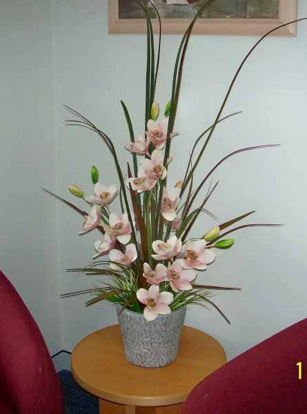 Artificial Cymbidium Orchids pale pink