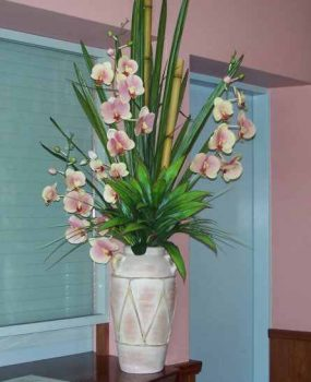 Artificial Orchids Phalaenopsis arrangement in tropical setting