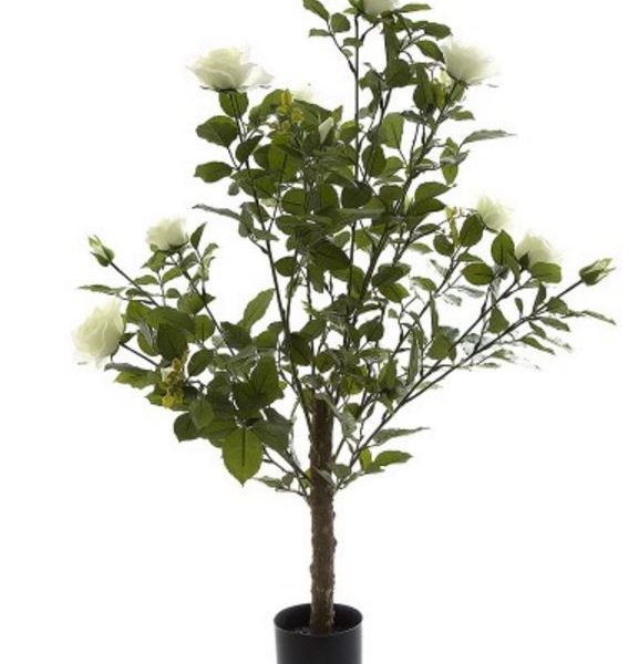 Artificial Rose Bush 1mt white