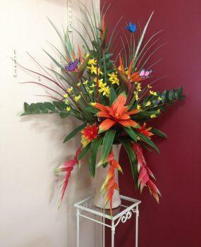 Artificial Flower arrangement – Tropical Flowers