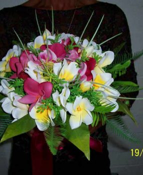 Tropical Frangipani Posy Bouquet