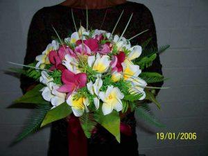 Tropical Frangipani Posy Bouquet
