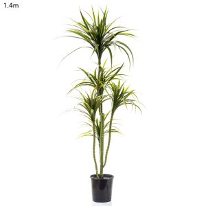 Artificial Yucca Plant 1.4mt x 5 heads on realistic flexible trunks