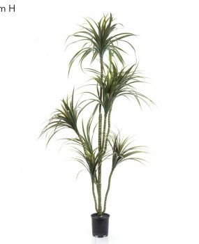 Artificial Yucca Tree 1.6mt with 7 heads of realistic foliage and flexible stems