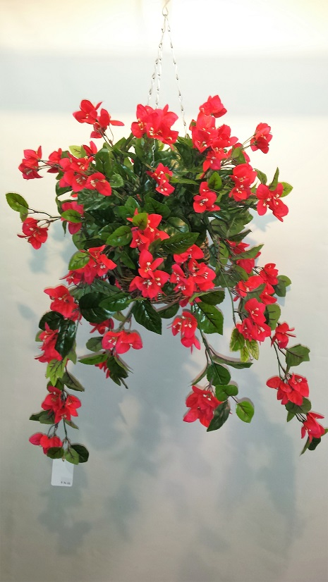 Artificial Bougainvillea Vine Bush Red - Double