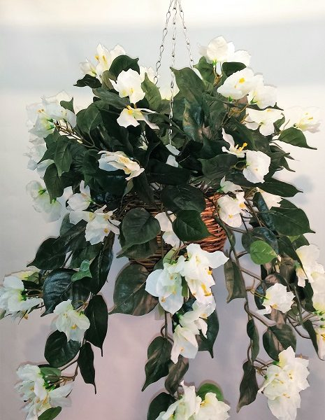 Artificial Bougainvillea Vine Bush White - double