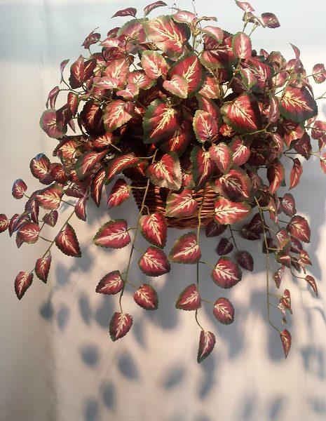 Artificial Coleus Vine Bush 360 lvs-double