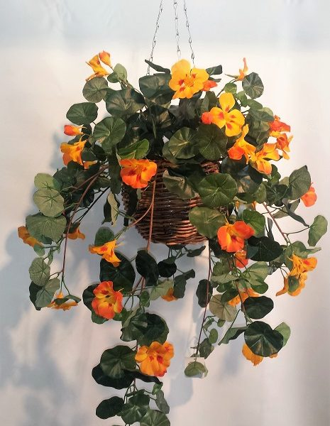 Artificial Nasturtium Vine Bush-double