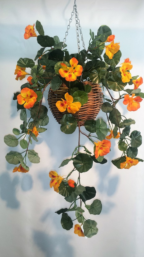 Artificial Nasturtium Vine Bush-single