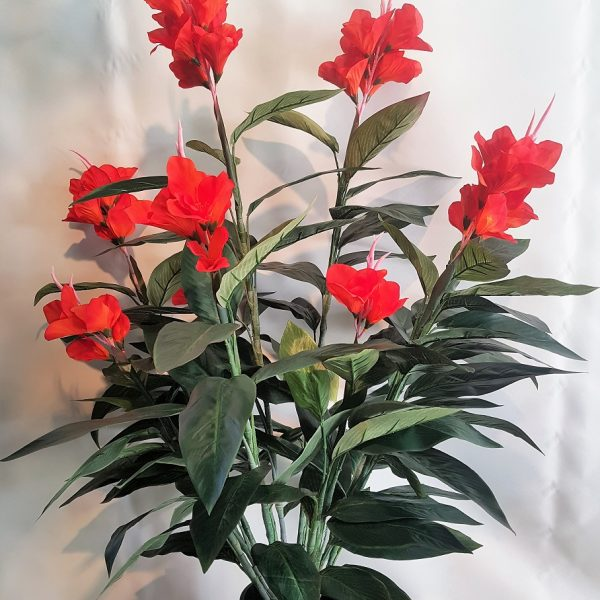 Artificial Canna Lily 1.2mt Red double