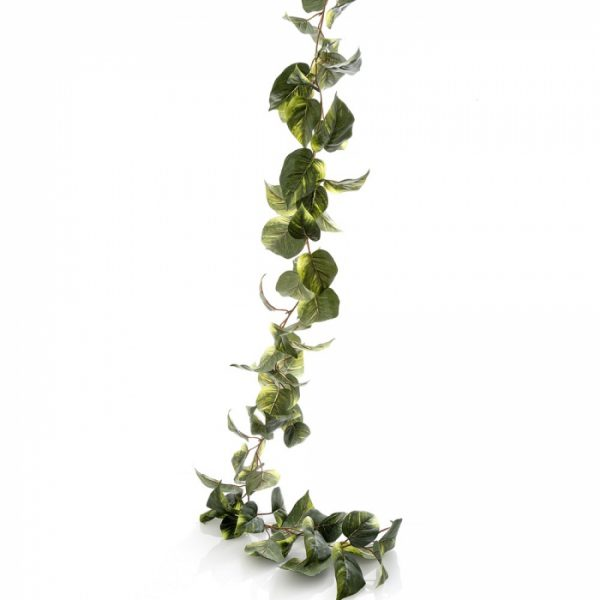 Devils Ivy Pothos artificial Garland 180cm - cream-green