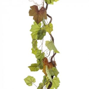 Artificial Grapevine Garland 150cm - realistic leaves - flexible vine