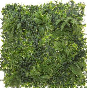 Artificial Wall Garden 1mt x 1mt UV Safe Mix Green