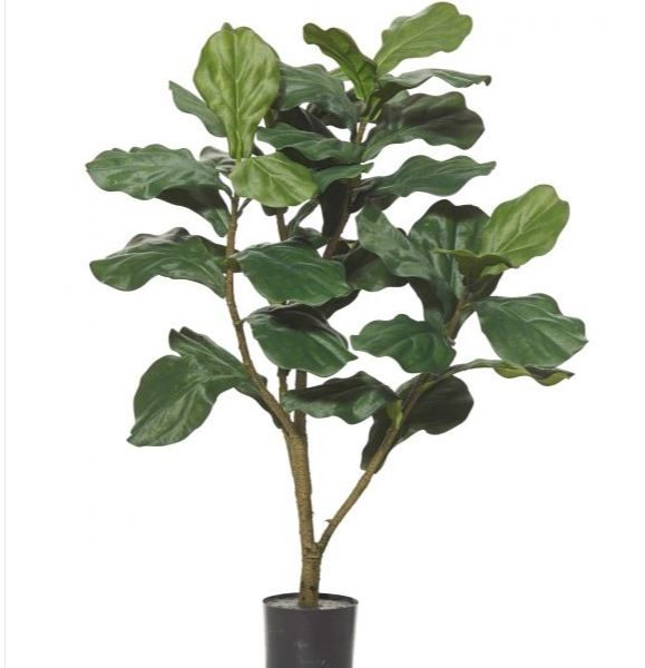Artificial Fiddle Leaf Tree 95cm-realistic-trunk-40 realistic lvs