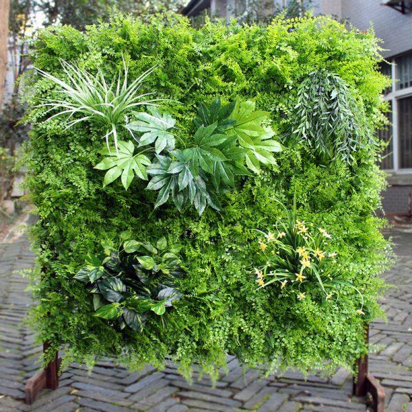 Artificial wall garden panel light green 1mt x 1mt - Ferns