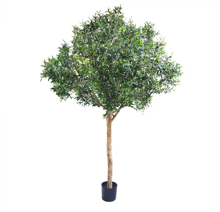 Artificial Olive Tree 250 cm –  Natural trunks – 180 fruits