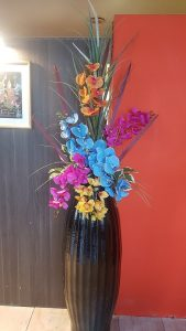 Artificial Orchids arrangement