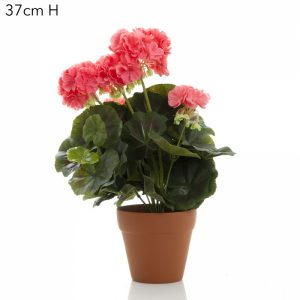 artificial Geranium bush Peach
