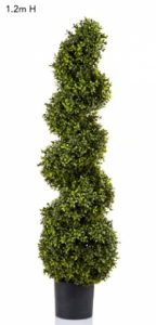 Boxwood Spiral Tree 120cm – Artificial Topiary plant natural timber