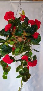 Artificial Red Geranium Vines