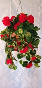 Artificial Red Geranium Vines Large