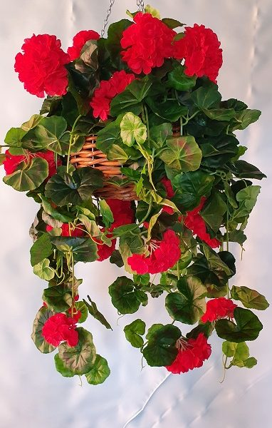 Artificial Red Geranium Vines Large